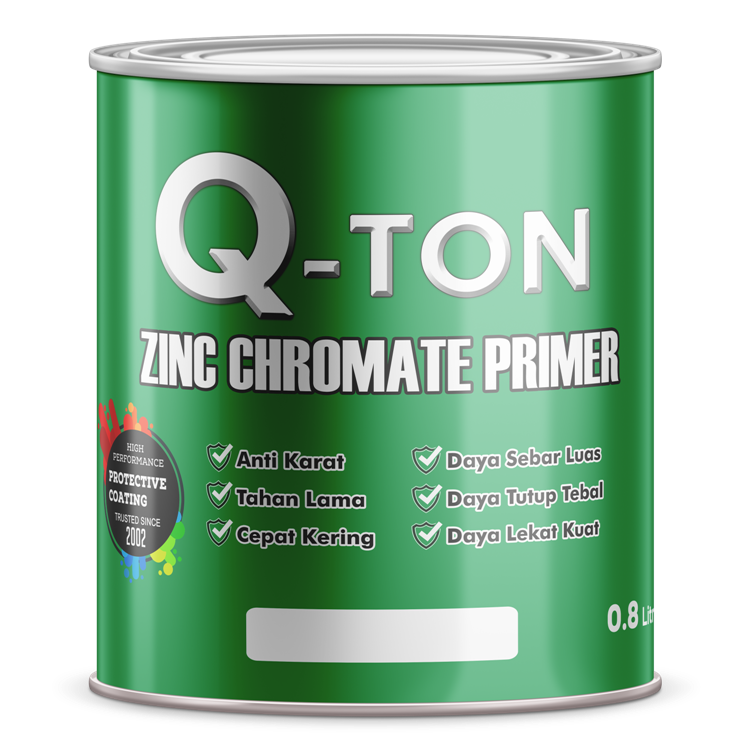Q-TON Zinc Chromate (3.5 Liter) wood and metal
